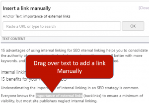 Manually Inserting Links using InLinks