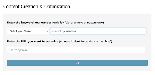 Unlike MarketMuse where content briefs are a premium feature, these are the basis of each new analysis within InLinks.
