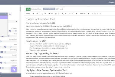 Content Editor for SEO